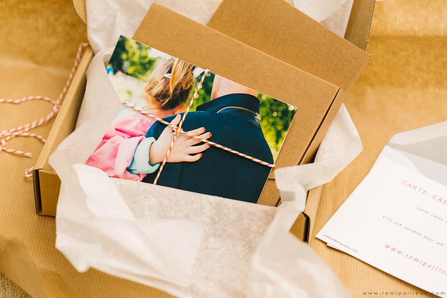 packaging fête des pères, bon cadeau, séance photo